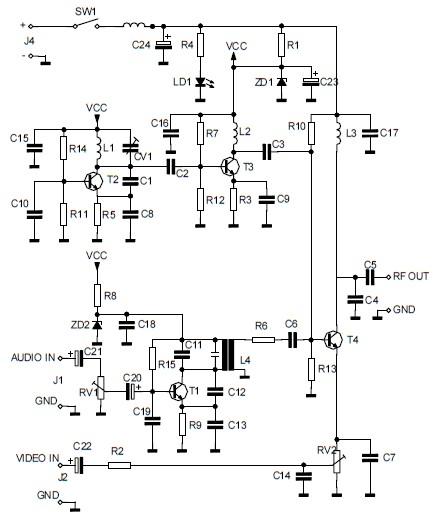 Audio/Video To UHF TV Signal Converter (Modulator