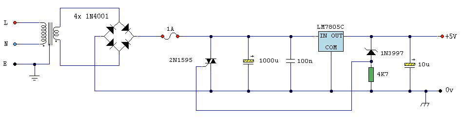 5V Regulated Power Supply with Over Voltage Protection
