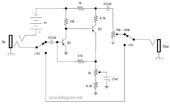 Vox Tone Bender Pedal Circuit Schematic