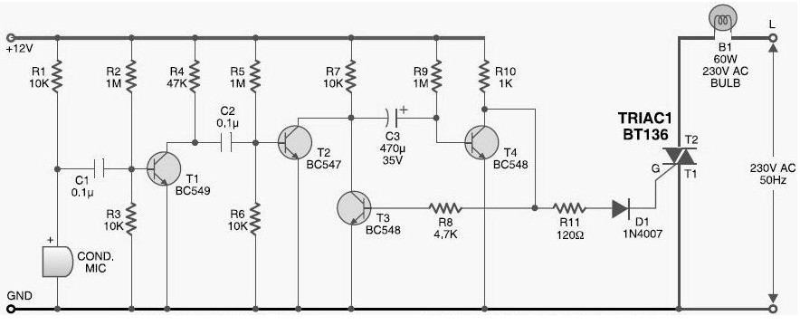 sound-activated-light-diagram Transistor Inverter Circuit Schematic on transistor gate, transistor circuit design, transistor latch circuit schematic, transistor circuit diagram, 12v to usb schematic, transistor voltage amplifier circuit, usb charge port schematic,