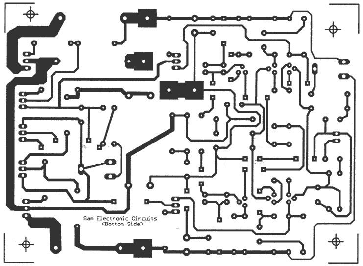 65W Power Amplifier bottom PCB design layout - Circuit Schematic