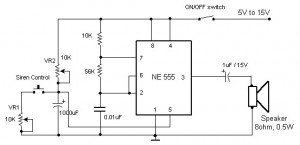 Electronic Siren based NE555