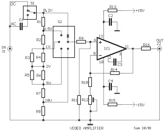 video amplifier circuit