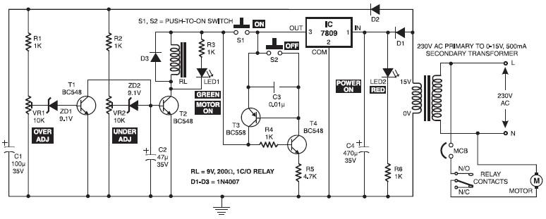 Starter Motor Wiring Circuit