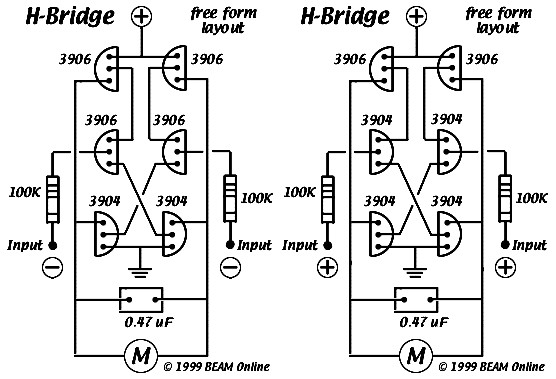 6 transistor tilden u0026 39 s h-bridge
