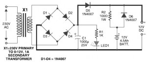 Pyroelectric Fire Alarm System - Circuit Schematic