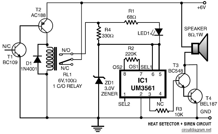 Miraculous Heat Detector Siren Circuit Schematic Wiring Digital Resources Antuskbiperorg