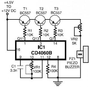 Telephone Ringtone Generator Circuit Diagram