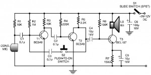 Low-cost intercom circuit diagram