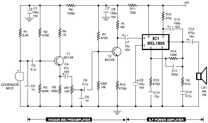 Echo Mic Circuit Diagrams