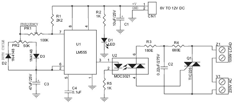dimmer led circuit diagram 80w power supply