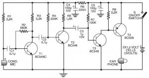 Cheap Hearing Aid Circuit Diagram