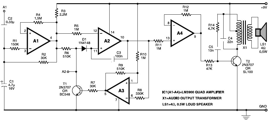 Astonishing Electronic Horn Circuit Schematic Wiring 101 Swasaxxcnl