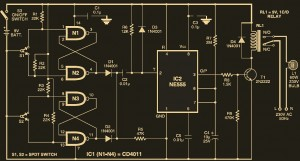 Staircase light circuit diagram