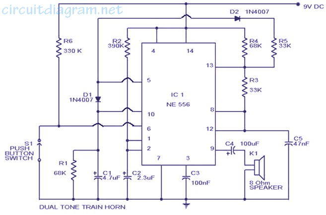 Train Horn Circuit Electronic