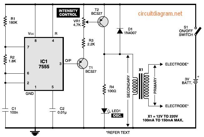 simple electronic muscular stimulator