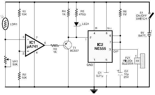light fence circuit electronic