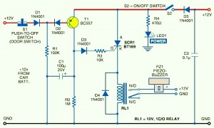 Car Anti Theft Guard Circuit Diagram