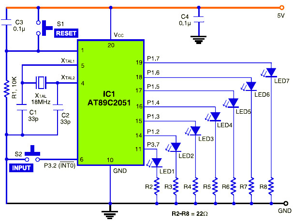 Electronic Dice Based Microcontroller Atmel At89c2051