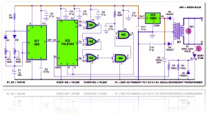 Electronic candle circuit diagram