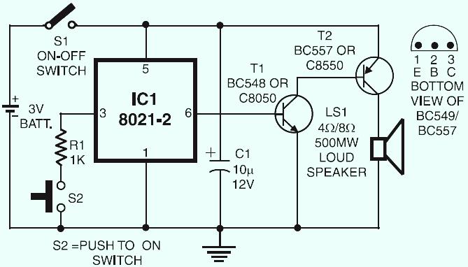 Electronic Bell Circuit Diagram - Wiring Diagram Article