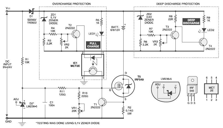 6v 9v 12v Battery Charger With Constant Current