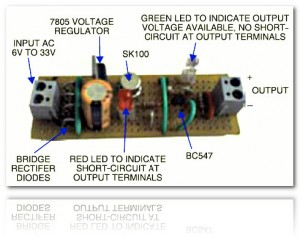 powersupply circuit with shortcircuit protection