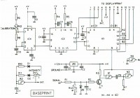 Digital RPM Meter Main Schematic