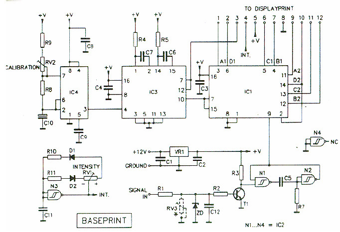 Digital Tachometer Rpm Meter Circuit Schematic