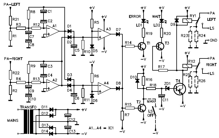 speaker protection circuit  stereo