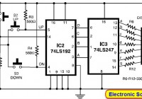 Electronic Scoring Game Circuit Electronic