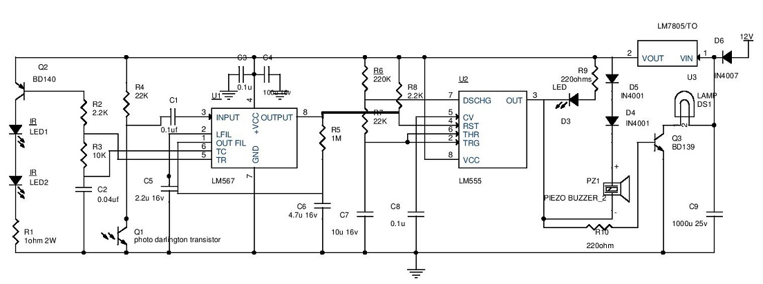 Car Parking Guard Circuit on Car Battery Charger Circuit Diagram