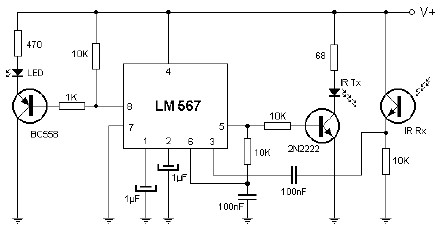 Proximity Infrared Detector Circuit on Car Battery Charger Diagram