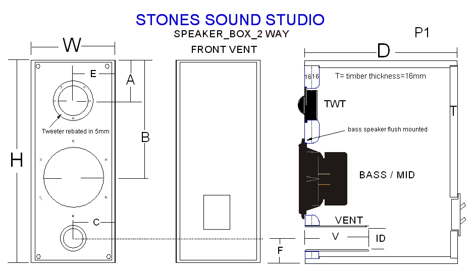 2 way speaker box design circuit schematic. Black Bedroom Furniture Sets. Home Design Ideas