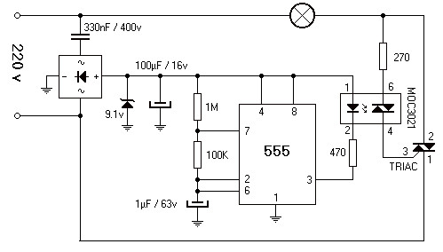 220V 800W Lamp    Flasher        Circuit    Scheme
