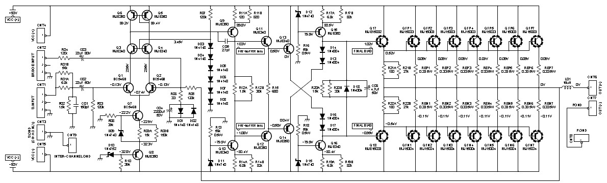 2000w class ab power amplifier circuit schematic rh circuitscheme com 2000w audio amplifier circuit diagram pdf