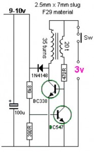 3v to 9v dc to dc converter circuit