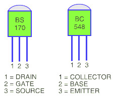 Glow Plug Controller Pin Configuration BS170 BC548