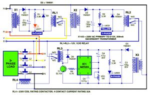Protector for Electronic Appliance with Three-Phase Power