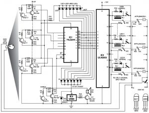 diy electronic cardlock security system  by circuit schematic