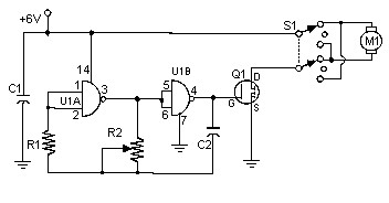 PWM DC Motor Controller with MOSFET - Circuit Scheme