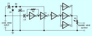 Sine Wave to Square Wave Converter Circuit Design