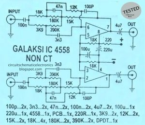 Galaxy Audio Booster Schematic Diagram