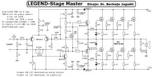 250W RMS Power Amplifier PCB Legend Stage Master