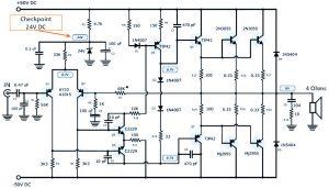 120W Power Amplifier Schematic Design