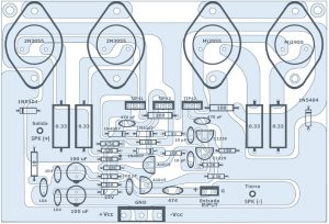 120W Power Amplifier Top PCB Layout