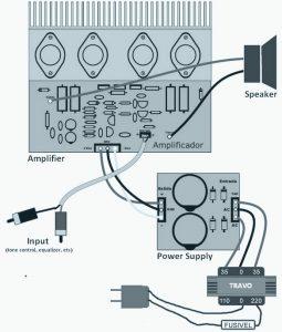 120W Power Amplifier Wiring