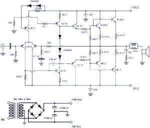 200W Power Amplifier Circuit Schematic